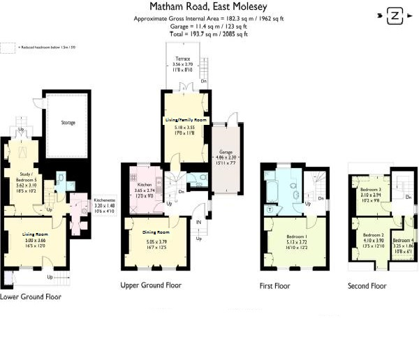 5 Bedroom House For Sale In East Molesey